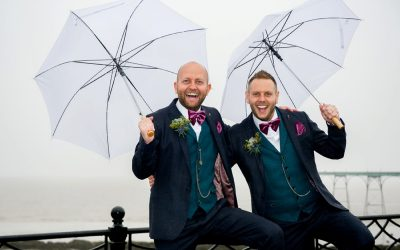 A rainy but wonderful Mr & Mr wedding at Clevedon Hall, Clevedon